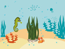 MARINE CARTOONS. Vector Royalty Free Stock Photography