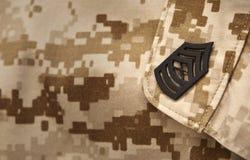 Marine Chevron. Military rank on a uniform royalty free illustration