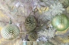 Marine Christmas-decoratie thuis stock foto
