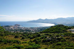 Marine City. Bay in Corsica in summer Stock Photos