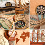 Marine collage Royalty Free Stock Photography