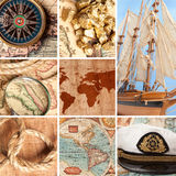 Marine collage royalty free stock image
