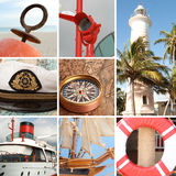 Marine collage Stock Image