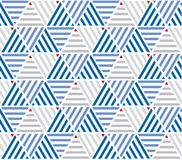 Marine color stripes seamless pattern. Stock Photo