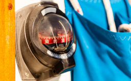 Marine compass on a yacht boat. Royalty Free Stock Images