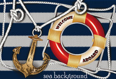 Marine composition and sea design elements Stock Photos