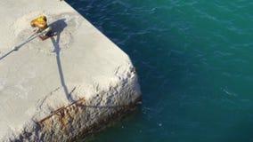 Marine concrete wharf stock video