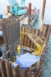 Marine Construction Fotografering för Bildbyråer