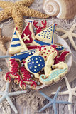 Marine cookies Royalty Free Stock Images