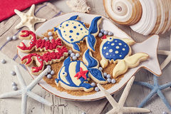 Marine cookies Stock Photos