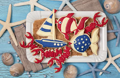 Marine cookies Royalty Free Stock Image