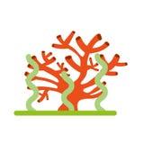 Marine coral sealife icon. Vector illustration design royalty free illustration