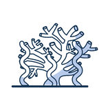 Marine coral sealife icon. Vector illustration design stock illustration