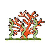 Marine coral sealife icon. Vector illustration design vector illustration