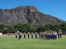 Marine Corp Band. Event: 20th Annual Hawai'i Lacrosse Invitational Tournament, 31.X.10 Location: Kapi'olani Park, Waikiki, on the island of O'ahu, Hawai'i, USA stock photos