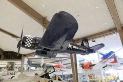 Marine Corps Aircraft i ett museum royaltyfri fotografi