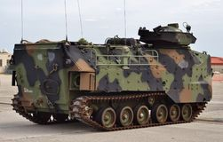 Marine Corps Assault Amphibious Vehicle amtrack stock afbeelding