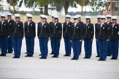 Marine Corps Marine Girls Graduation at Parris Island, South Carolina royalty free stock image