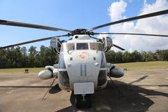 Marine Corps Helicopter com emblemas da batalha Foto de Stock Royalty Free