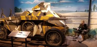 Marine Corps King Armored Car stock foto