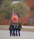 Marine Corps marchant chez Parris Island, Sc Photographie stock