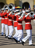 Marine Corps Marching Band. Soldiers of the United States Marine Corps Marching Band. Image taken on March 8th 2008, at MCRD, San Diego royalty free stock image