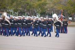 Marine Corps Marching Band chez Parris Island, Sc Images libres de droits