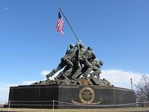 Marine Corps Memorial Royaltyfri Fotografi