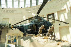 Marine Corps Museum. An image of a display of a helicopter assult at the Marine Corps Museum in Quantico Virginia Stock Image