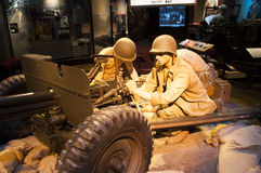 Marine Corps Museum. An image of display of marines loading an artilery gun at the Marine Corps Museum in Quantico Virginia Royalty Free Stock Images