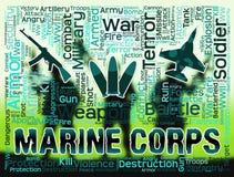 Marine Corps Represents Military Action y acuático Fotografía de archivo libre de regalías