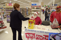 MARINE CORPS RESERVE FOR TOYS FOR TOTS Royalty Free Stock Images