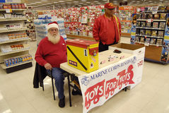 MARINE CORPS RESERVE FOR TOYS FOR TOTS Stock Photography