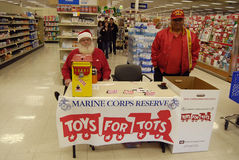 MARINE CORPS RESERVE FOR TOYS FOR TOTS Stock Photos