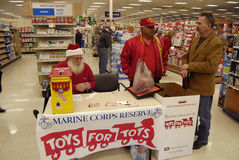 MARINE CORPS RESERVE FOR TOYS FOR TOTS Royalty Free Stock Image