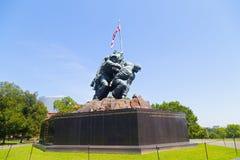 Marine Corps War Memorial in Arlington, VA, de V.S. stock foto's