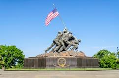 Marine Corps War Memorial. (Iwo Jima Memorial), Washington DC, USA royalty free stock photography