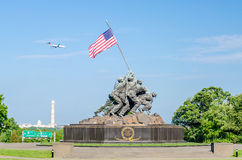 Marine Corps War Memorial. (Iwo Jima Memorial), Washington DC, USA royalty free stock images