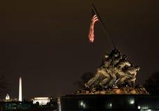 The Marine Corps War Memorial Washington DC. The Marine Corps War Iwo Jima Memorial Shows the Raising of the Flag at Iwo Jima in World War II  Washington DC Stock Photography