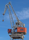 A marine crane. In a dock Royalty Free Stock Images