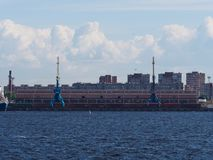 Marine crane, sky, water stock photography