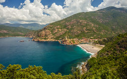 Marine de Porto on the west coast of Corsica Royalty Free Stock Image