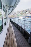 Marine deck of a passenger ship in Istanbul Stock Photography