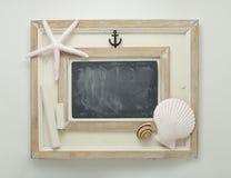 Marine decorated chalkboard. Stock Photography