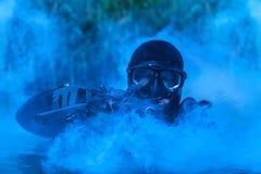 Marine DICHTUNGS-Froschmann lizenzfreies stockfoto
