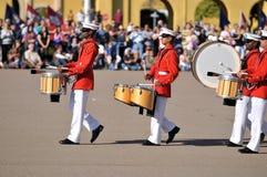 Marine die Band marcheren stock fotografie