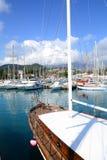 Marine dock. Ship deck closeup Stock Images