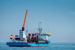 Marine dredger Royalty Free Stock Photos