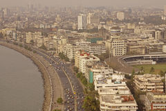Marine Drive and Downtown Mumbai Royalty Free Stock Images