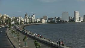 Marine Drive el collar de la reina, Bombay, la India metrajes